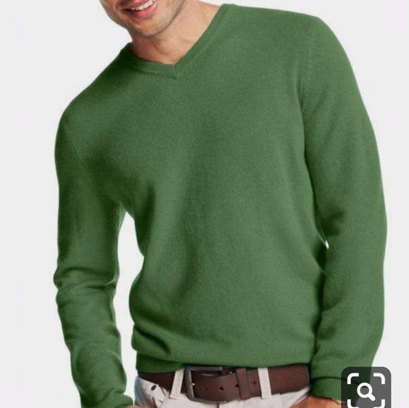 Men\u0027s Charter Club 100% Cashmere Green Sweater